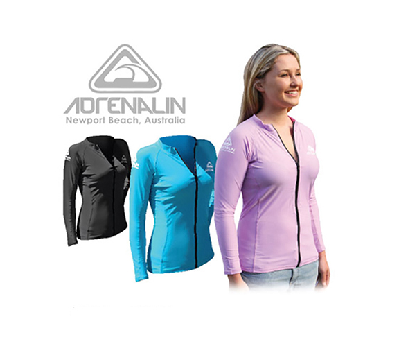by Adrenalin Adrenalin Ladies Front Zip Long Sleeve