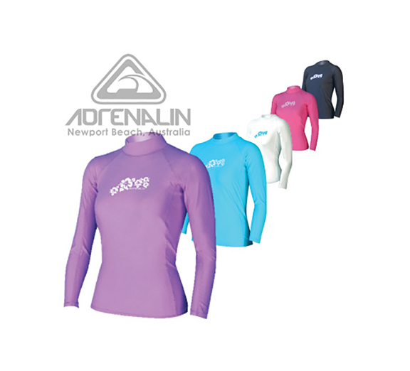 by Adrenalin Adrenalin Ladies Long Sleeve Rash Vest