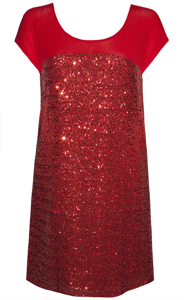 by Little Party Dress Amaze Red Sequin Shift Dress