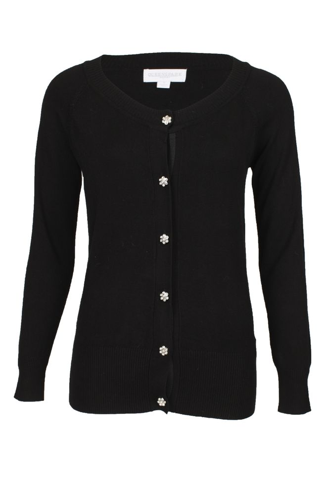 by Queenspark Black Basic Cardigan