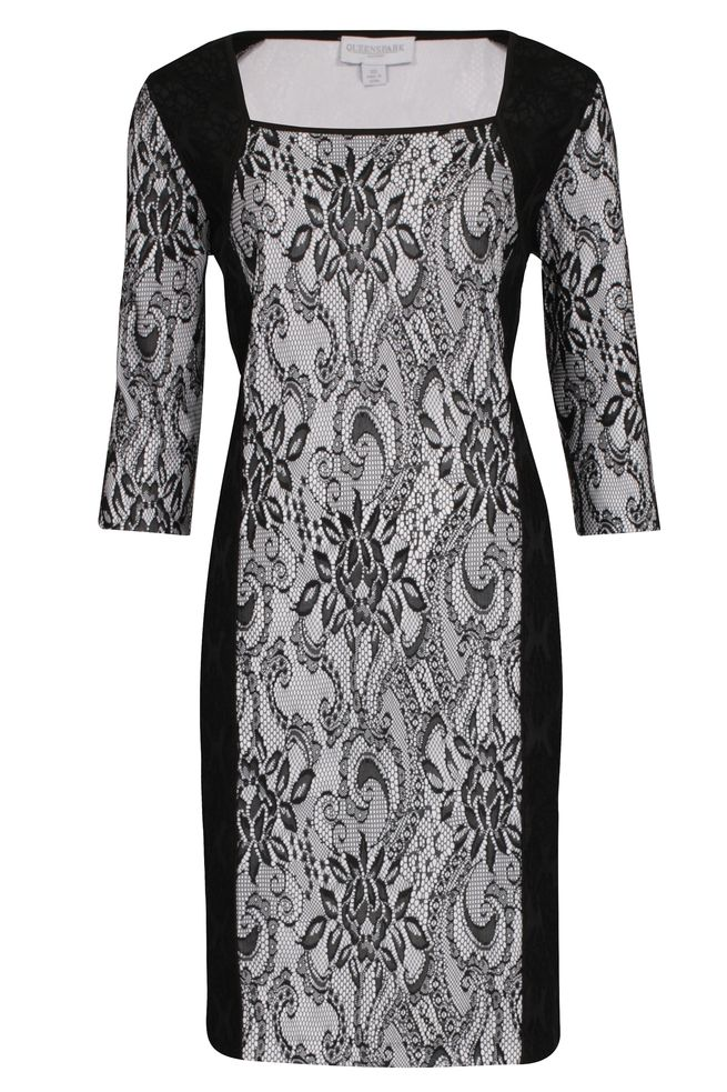 by Queenspark Black Bonded Lace Dress