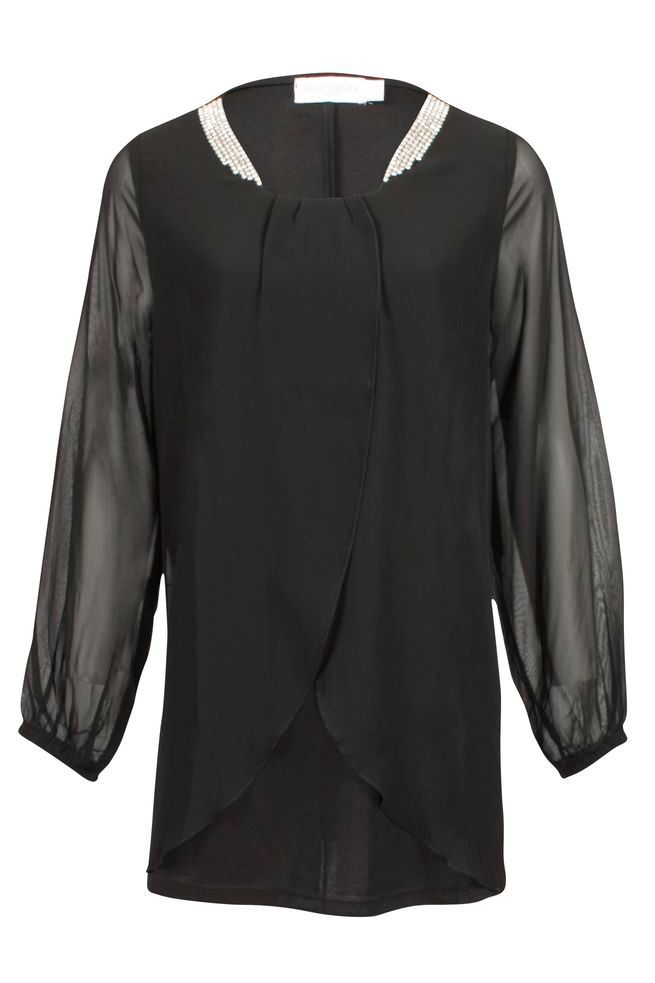 by Queenspark Black Charlotte Blouse