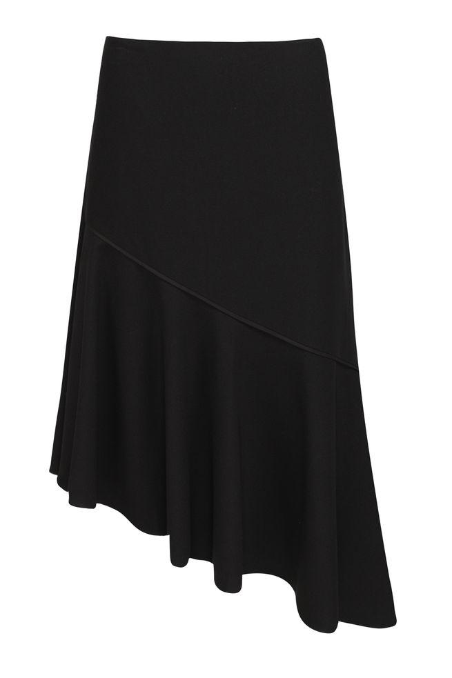 by Queenspark Black Crepe Skirt