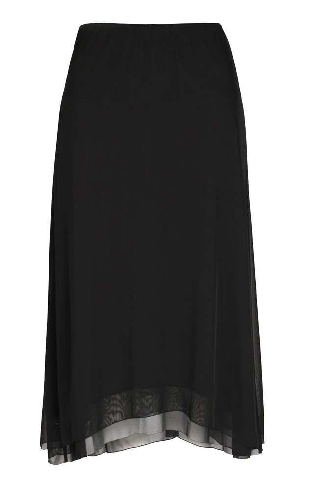 by Queenspark Black Dip Mesh Skirt