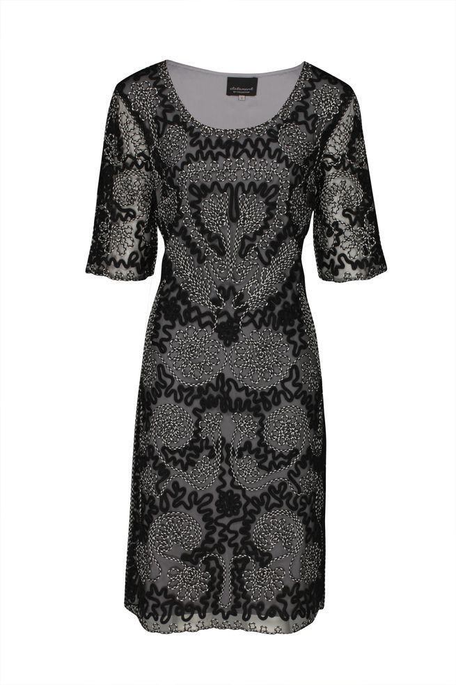 by Queenspark Black Evita Lace Dress