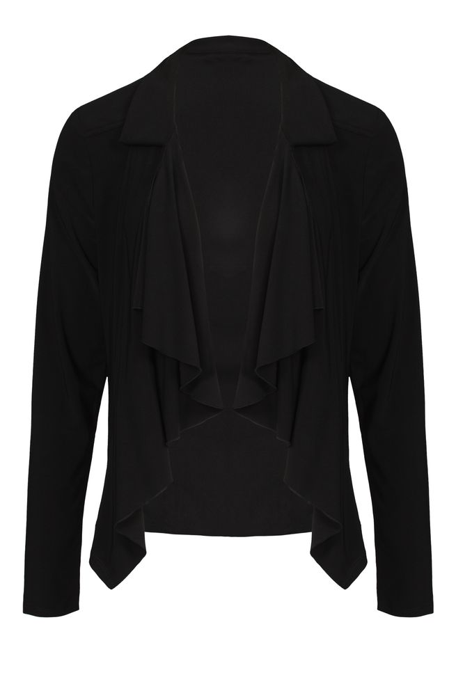 by Queenspark Black Jersey Collared Shrug
