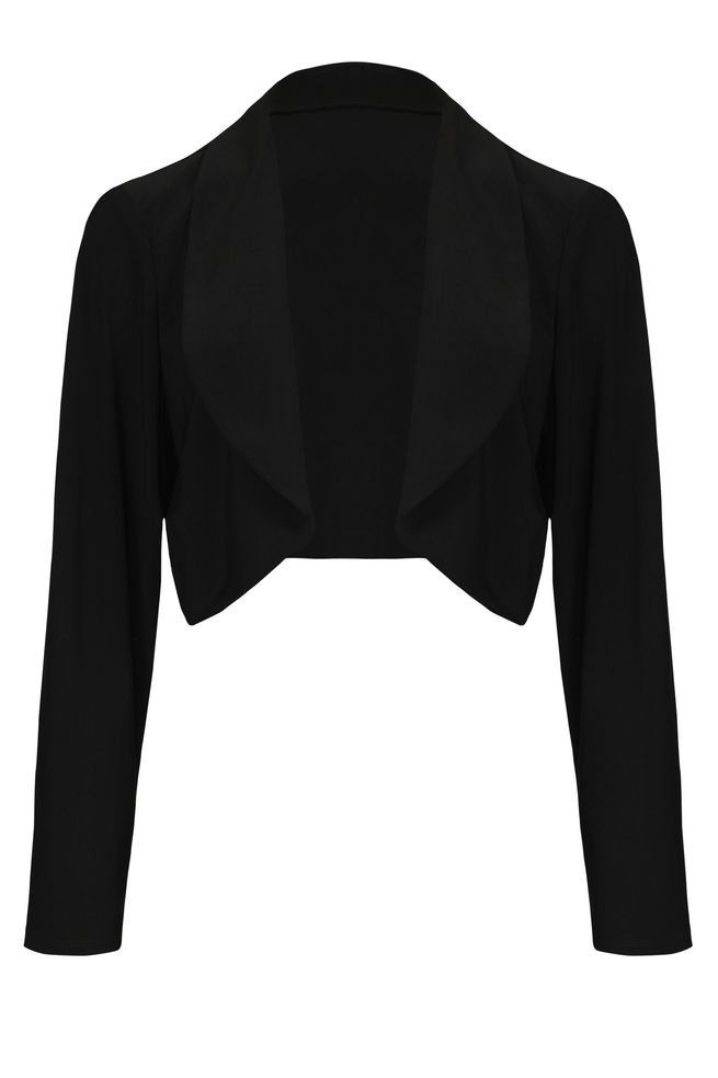 by Queenspark Black Jersey Shrug