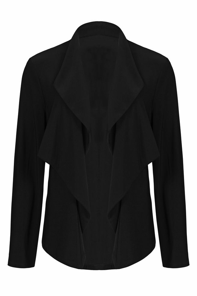 by Queenspark Black Soft Ruffle Jacket