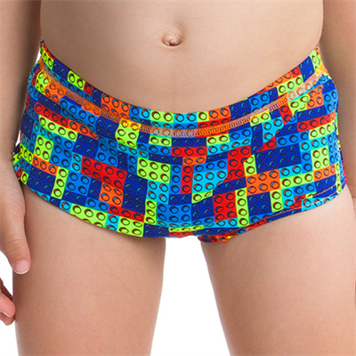 Piece by Funky Trunks Block Party Toddler Boys Printed Trunk