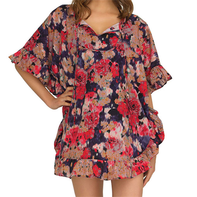Piece by Bond-Eye Blurred Bloom Fly Kaftan