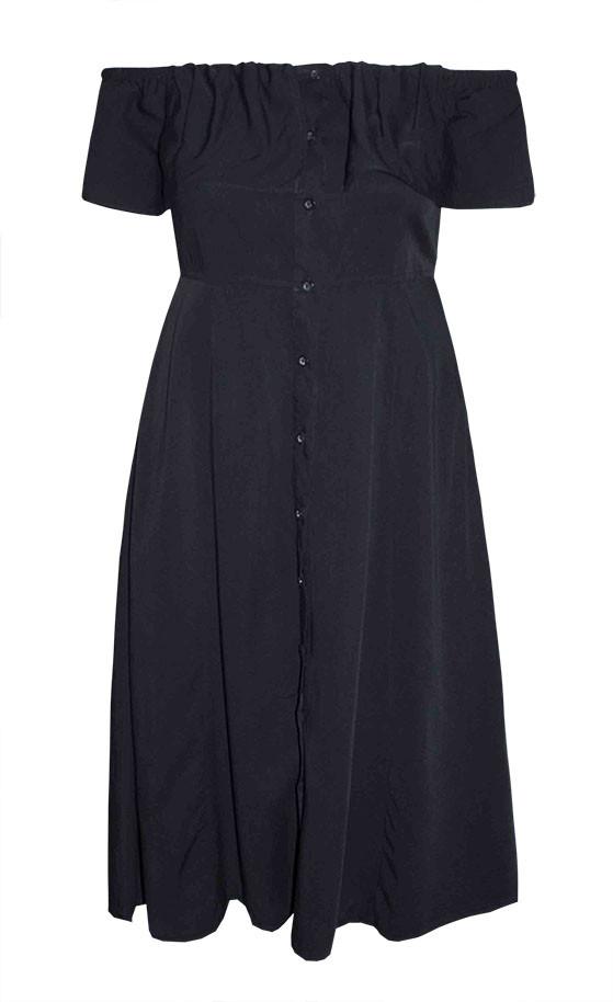 by Little Party Dress Boho Dream Black Midi Dress