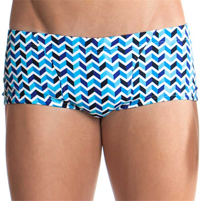 Piece by Funky Trunks Chevron Stream Mens Classic Printed Trunk