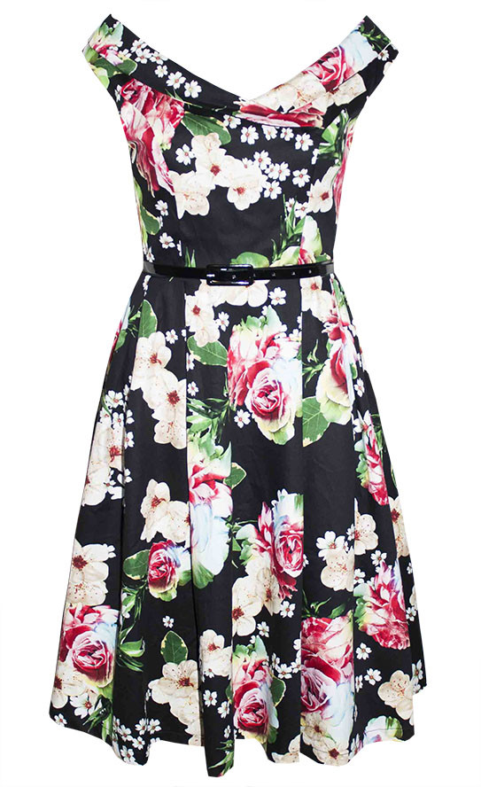by Little Party Dress Coco Black Floral Dress