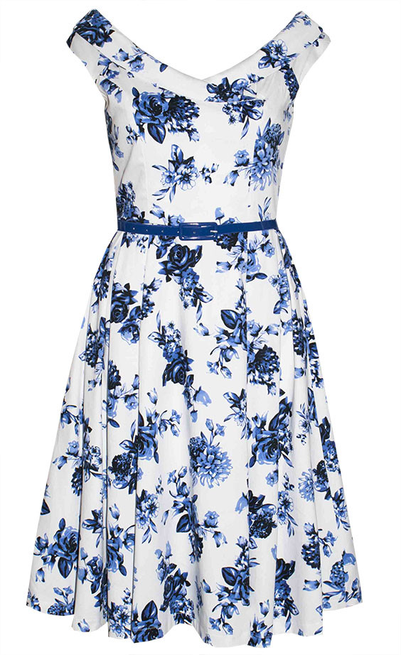 by Little Party Dress Coco Blue Floral Dress