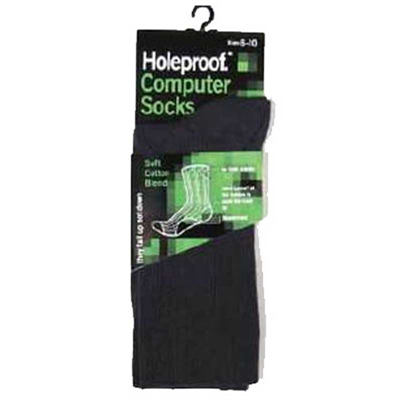 Piece by Holeproof Computer Socks Mens Cotton Blend