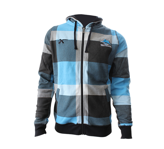 by Blades Cronulla Sharks 2015 Hoodie Checkered