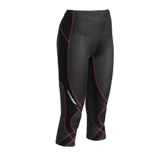 by CW-X CWX Womens 3/4 Stability X Tight Black Pink