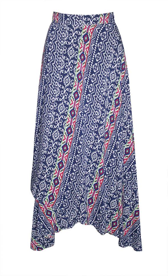 by Little Party Dress Ebony Navy Wrap Skirt
