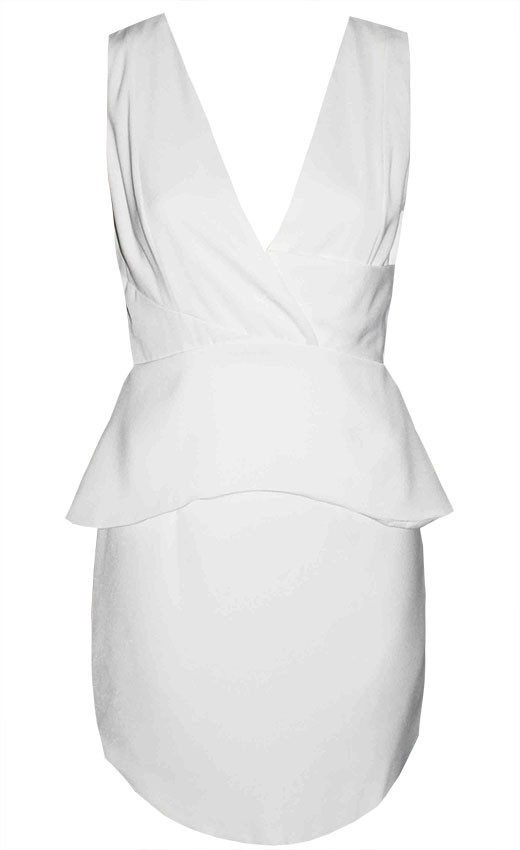 by Little Party Dress Fairy Floss White Peplum Dress