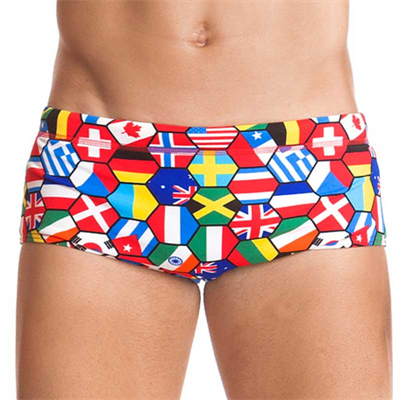 Piece by Funky Trunks Flag Tags Boys Printed Trunk