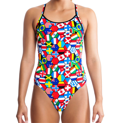 One Piece by Funkita Flag Tags Diamond Back One Piece Swimsuit