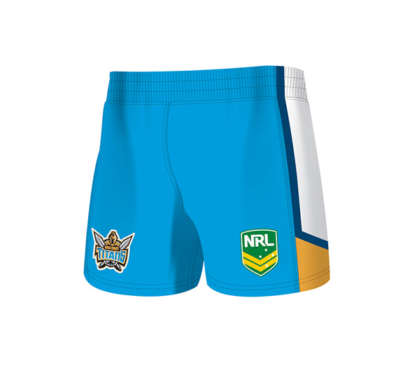 by ISC Gold Coast Titans Away Supporter Shorts 2 Pack