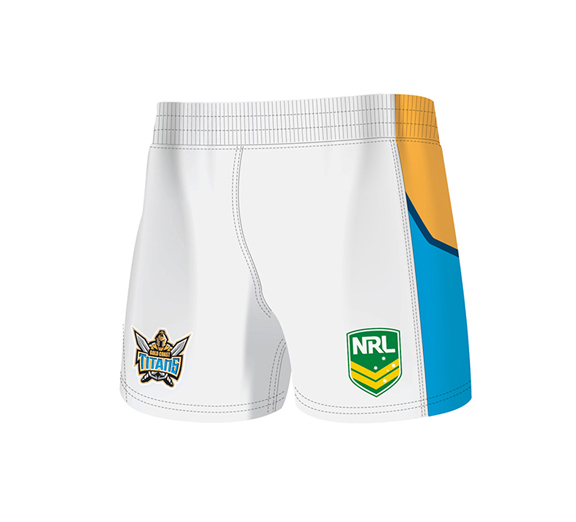 by ISC Gold Coast Titans Home Supporter Shorts 2 Pack