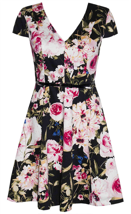 by Little Party Dress Jemima Black Floral Dress
