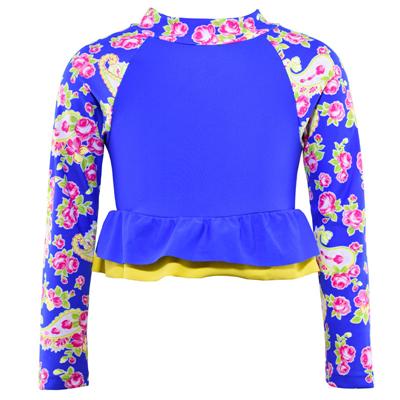 Vest by Cupid Girl Lunar Rose Long Sleeve Frill Rash Vest