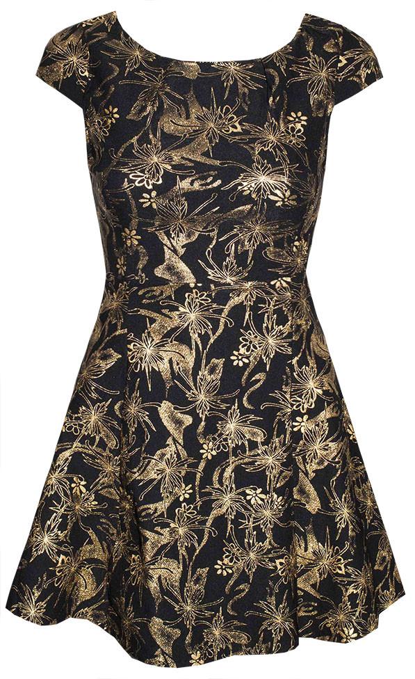 by Little Party Dress Mystified Black  Gold Dress