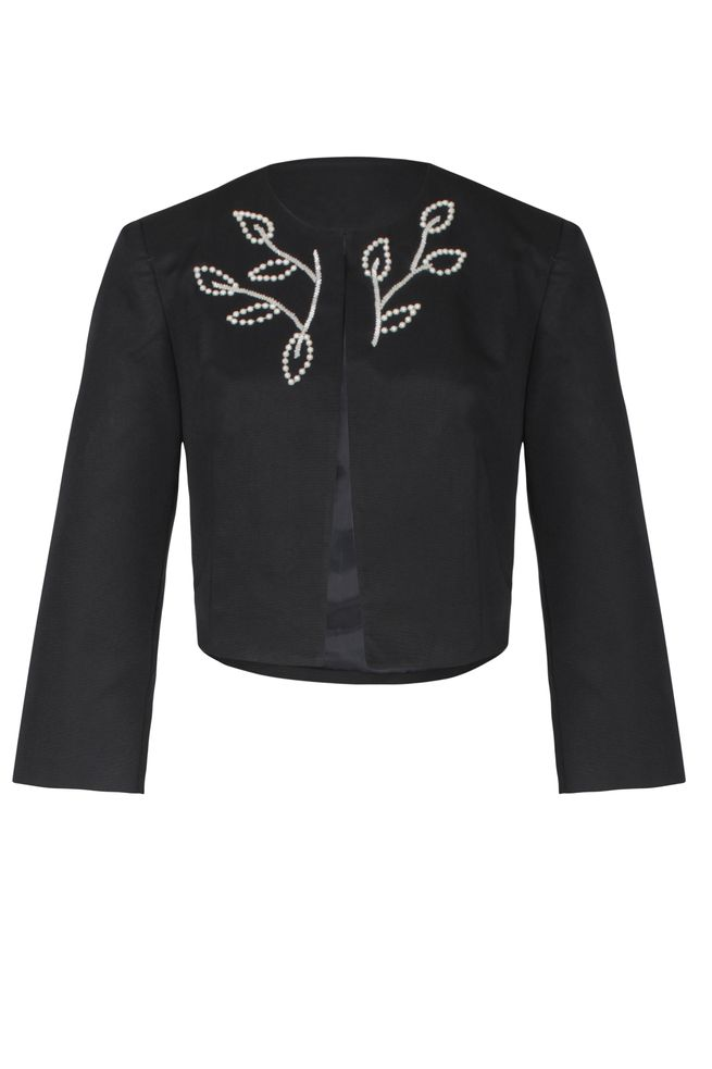 by Queenspark Navy Audrey Pearl Jacket