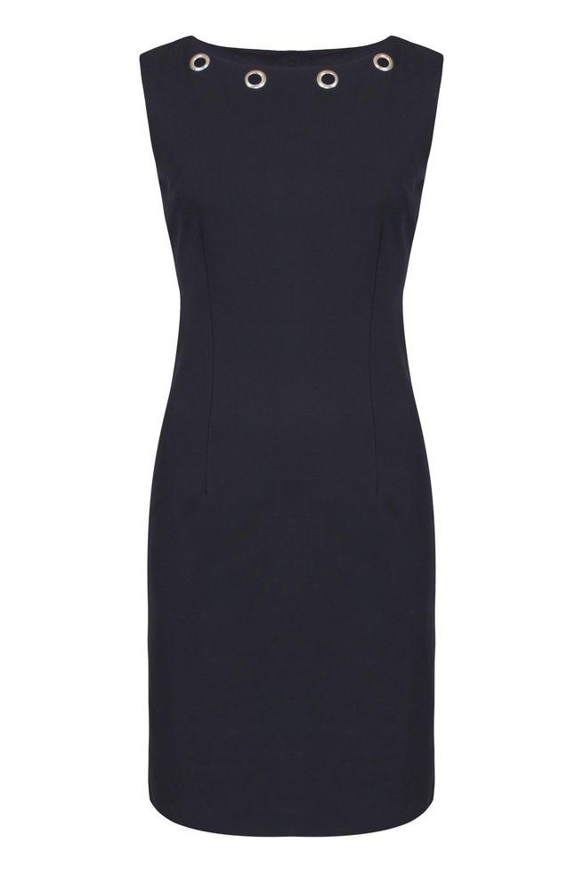 by Queenspark Navy Motif Dress