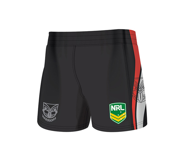 by ISC New Zealand Warriors Home Supporter Shorts 2 Pack
