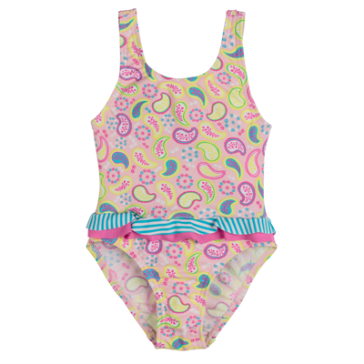 Swimsuit by Platypus Paisley Baby Swimsuit with Bow
