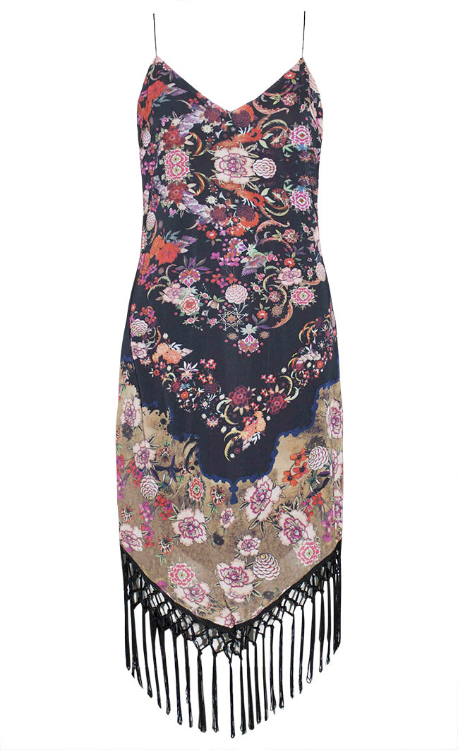 by Little Party Dress Parisian Floral Fringe Dress
