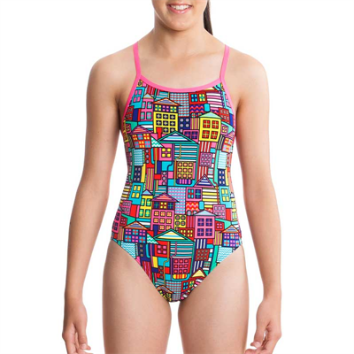 One Piece by Funkita Powerhouse Girls Single Strap One Piece