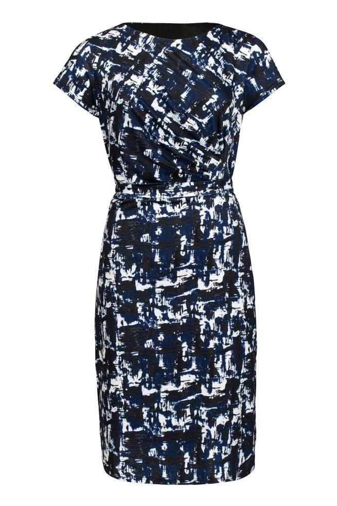 by Queenspark Print Blue Geometric Dress