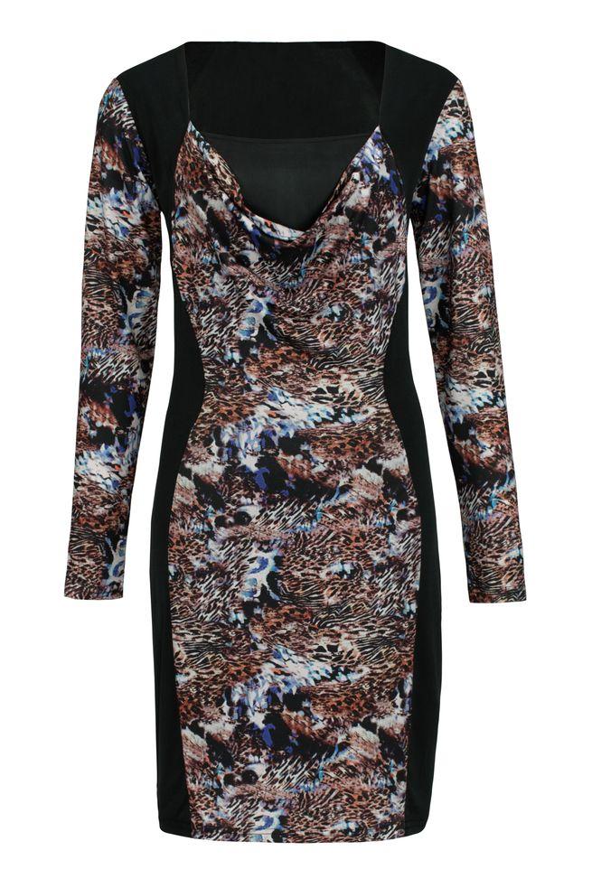 by Queenspark Print Blue Leo Dress