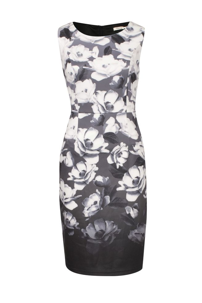 by Queenspark Print Floral Ombre Dress