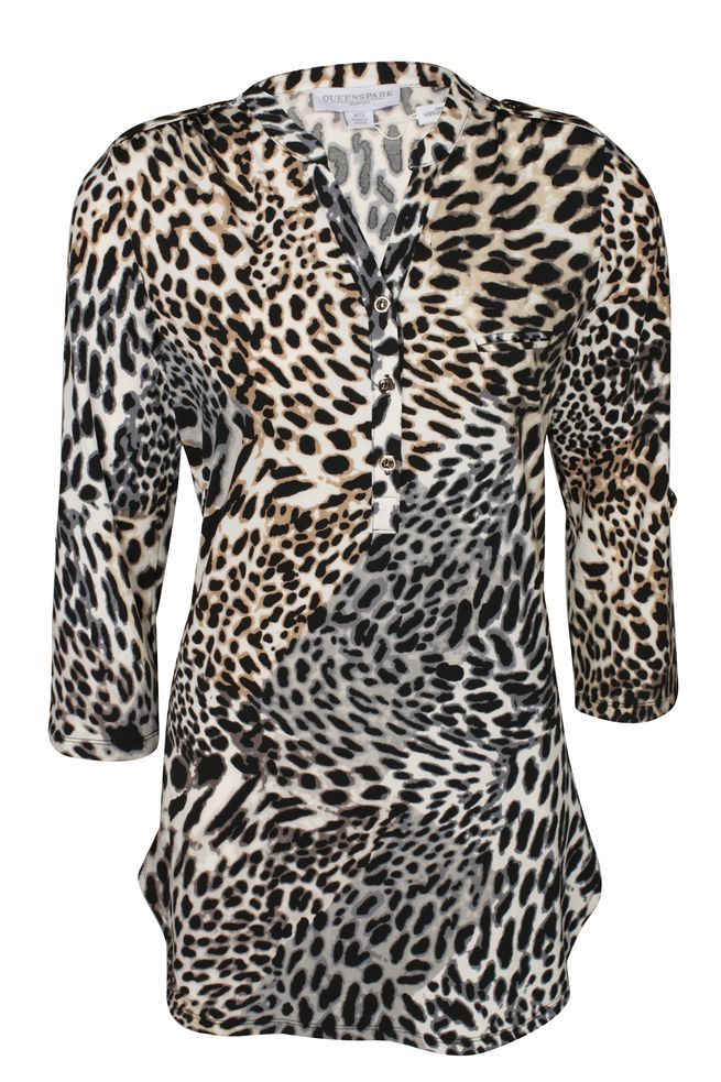 by Queenspark Print Leopard Blouse