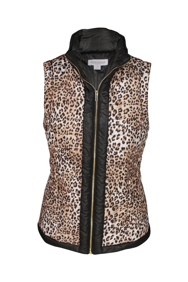 by Queenspark Print Leo Puffer Vest