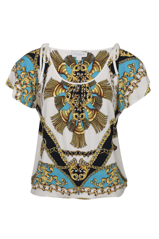 by Queenspark Print Roma Top