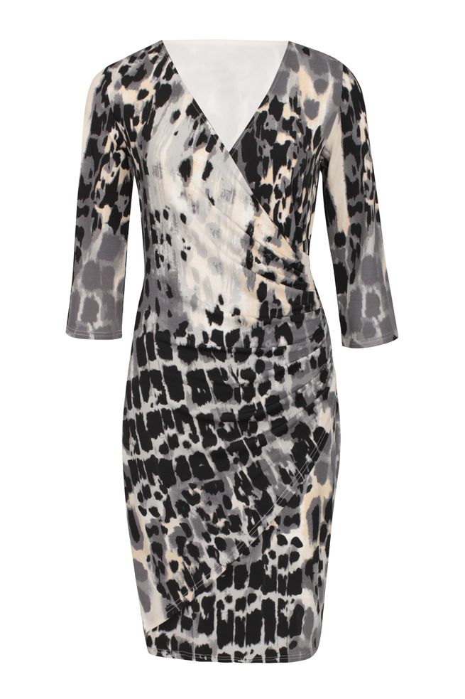 by Queenspark Print Windsor Wrap Dress