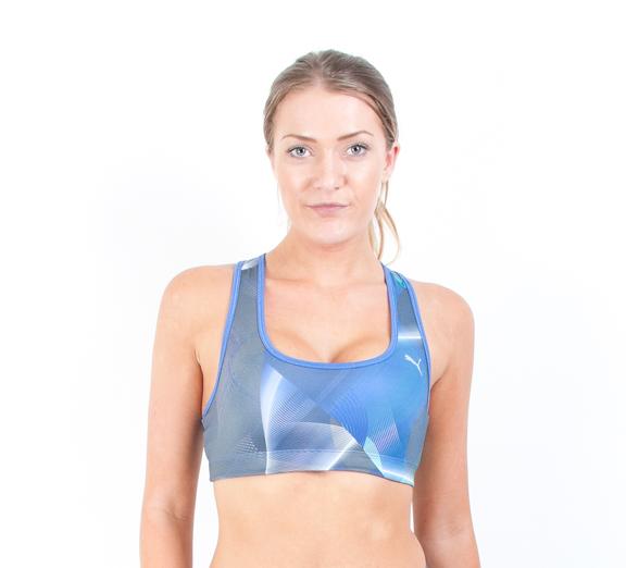 by Puma PUMA Womens Essential Gym Graphic Bra Top