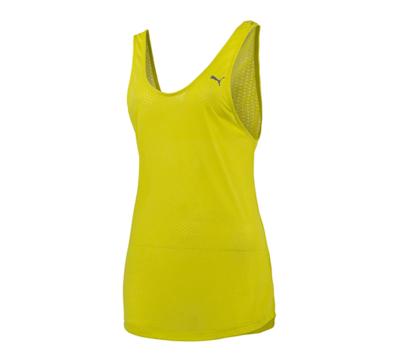 by Puma PUMA Womens ST Burnout Layer Tank Sulphur Spring