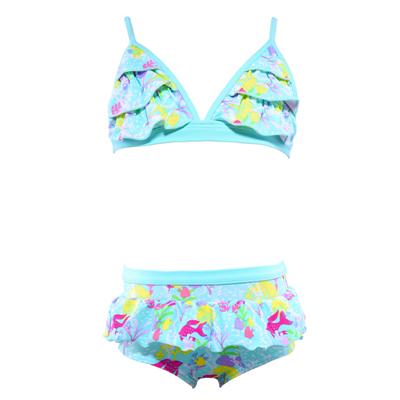 Bikini Brief by Cupid Girl Rainbow Reef Frill Bikini Set