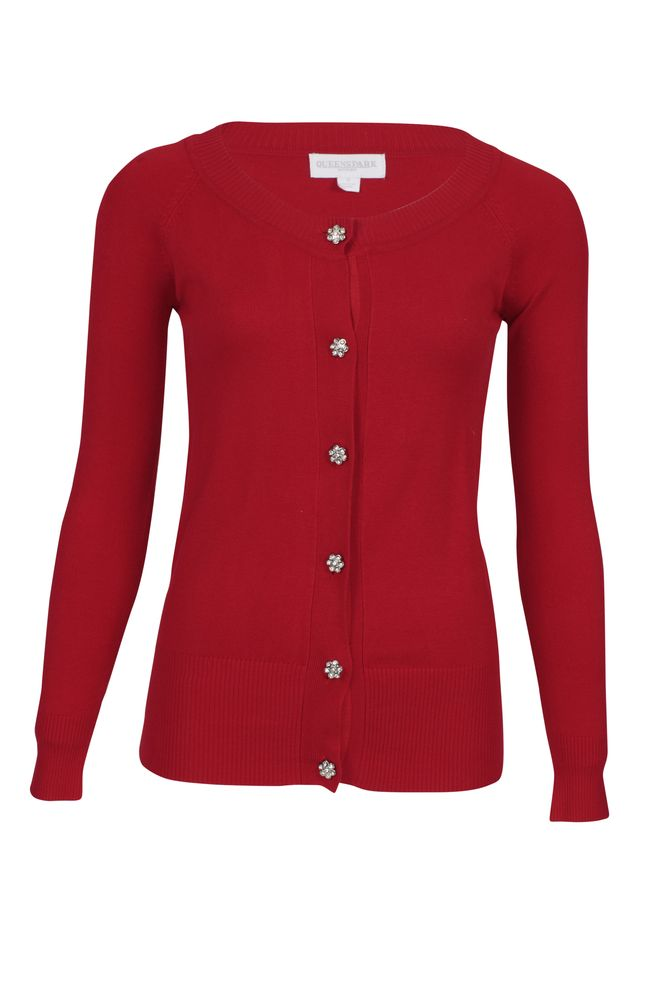 by Queenspark Red Basic Cardigan