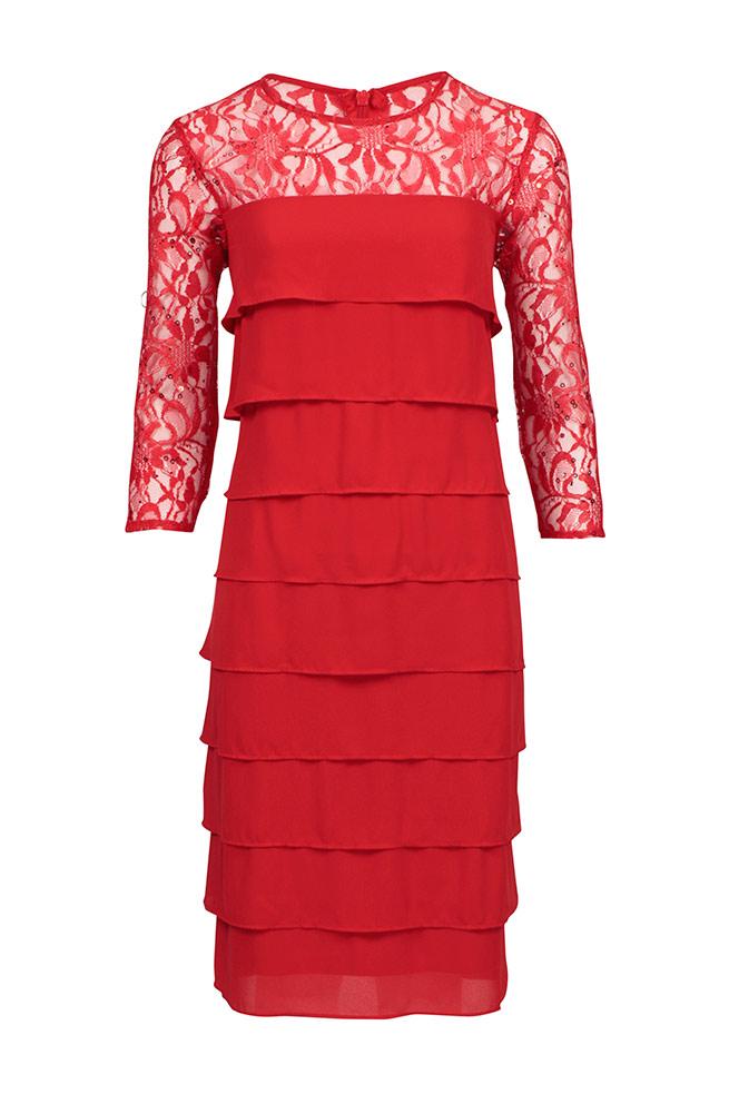 by Queenspark Red Dakota Layer Dress
