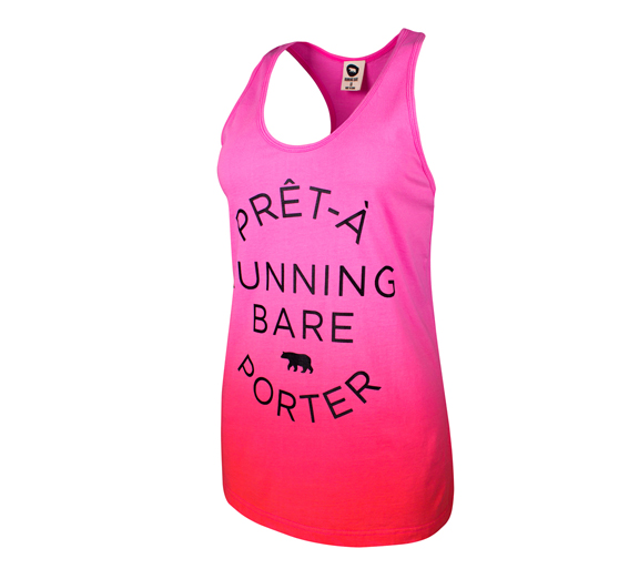 by Running Bare Running Bare Happy Friday Dip Dye BF Tank