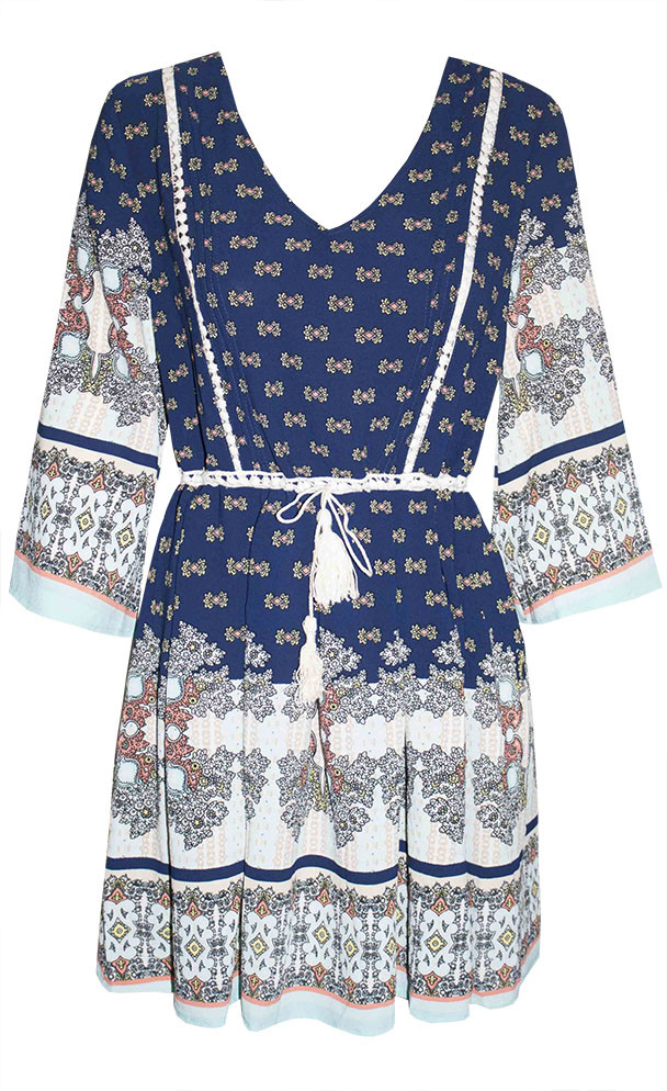 by Little Party Dress Sahara Blue Print Dress